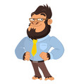 business gorilla character vector image