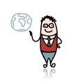Businessman and globe sketch for your design vector image vector image