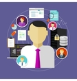career in IT technology CIO chief information vector image vector image