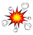 cartoon comic empty bubbles labels and elements vector image