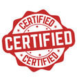 certified sign or stamp vector image vector image