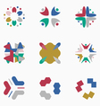 Color logos vector image vector image