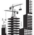 construction high rise building near skyscraper vector image