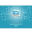Craete your Trawel with Laptop vector image