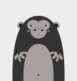 cute big fat gorilla vector image vector image