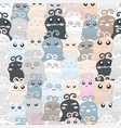 cute funny monster seamless pattern vector image