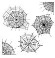 Different Spider Web Set vector image