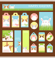 easter set for scrapbooking vector image vector image