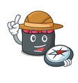explorer ikura mascot cartoon style vector image vector image