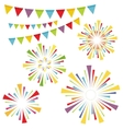 fireworks and garlands vector image vector image