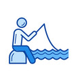 fishing line icon vector image