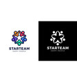 five people made star shape logo design template vector image