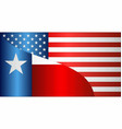 flag of usa and texas state vector image