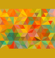 flat retro color geometric triangle wallpaper vector image vector image