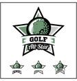 golf ball all star badge logo vector image