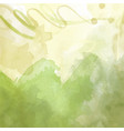 green hand drawn watercolor background vector image vector image