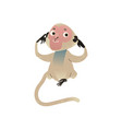 hear no evil monkey pluging ears vector image