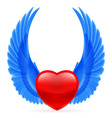 Heart with wings up vector image vector image