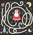help santa claus find way to christmas vector image vector image