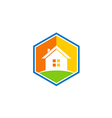 house realty icon color simple logo vector image vector image