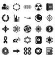 index icons set simple style vector image vector image