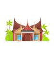 indonesian cuisine restaurant architecture design vector image vector image