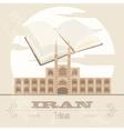 Iran Retro styled image V vector image vector image