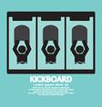 Kick Board Black Symbol vector image vector image