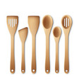 kitchen utensil set vector image vector image