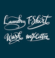 laundry and t-shirt hand written typography vector image vector image