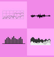line and bar graphs icons vector image vector image
