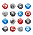 medicine and heath care icons vector image vector image