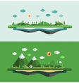 Modern flat design conceptual landscape vector image vector image
