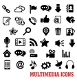 Multimedia and web social media icons vector image