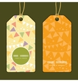 party decorations bunting vertical round frame vector image
