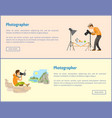 photographers of landscape and still life banners vector image vector image