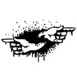 pointing hand stencil vector image vector image