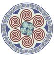 round celtic design celtic mandala vector image vector image