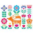 scandinavian cute folk art design with flow vector image vector image