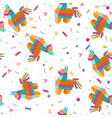 seamless pattern with pinata on a white vector image