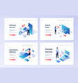 set banners for delivery services vector image vector image