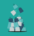 shopping bag store vector image vector image