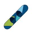 snowboard sport equipment vector image vector image