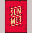 summer typographic vintage grunge poster design vector image vector image
