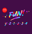 type design with neon colors creative vector image