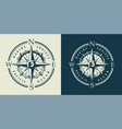 vintage monochrome marine label vector image