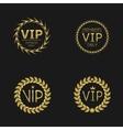 VIP Laurel wreaths vector image vector image