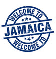 Welcome to jamaica blue stamp vector image