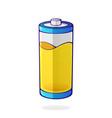 yellow color energy status accumulator vector image vector image
