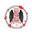 you are my guardian angel - lettering vector image